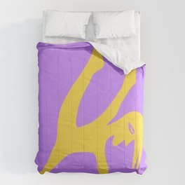 The Yellow Groovy Contemporary Dancer Comforters