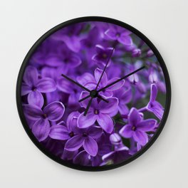 Lilac in Bloom Wall Clock