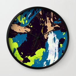 Rave Tiger Stripes Wall Clock