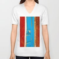 door V-neck T-shirts featuring Door by Maite Pons