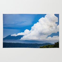 Steam Rising off of Mombacho Volcano with Blue Stormy Skies in Nicaragua Rug