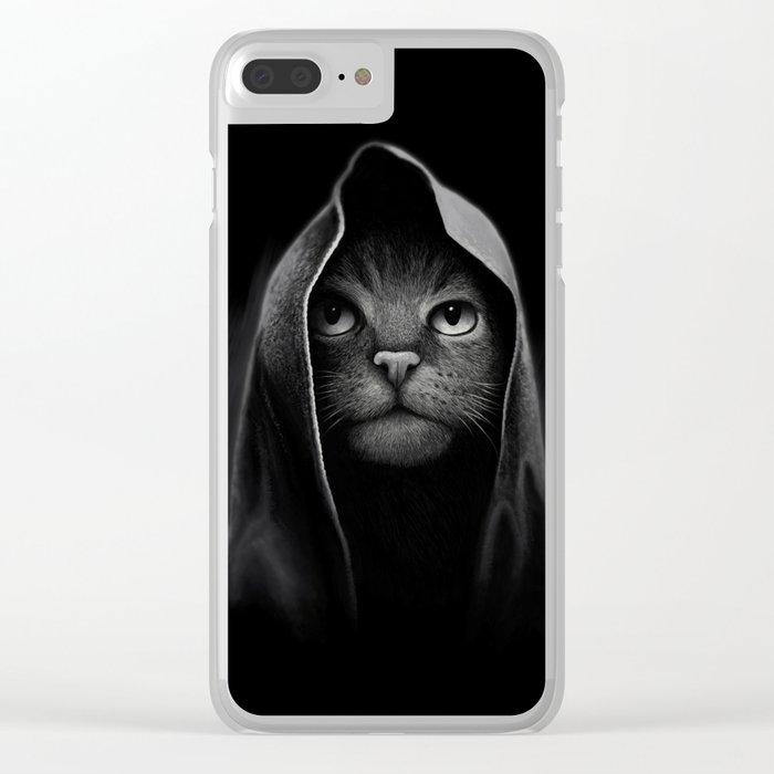 Cat portrait Clear iPhone Case