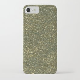 Gold jewelry metal foil iPhone Case