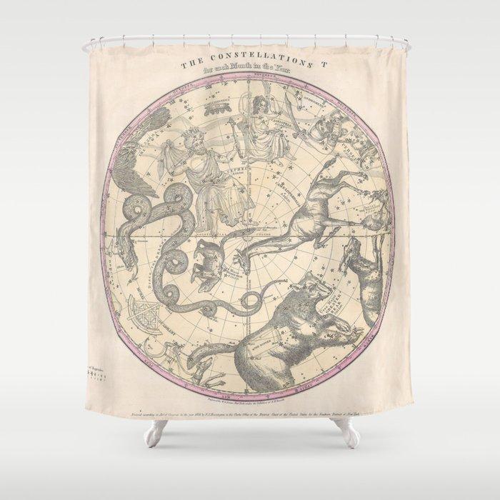 The Constellation Shower Curtain