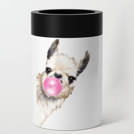 Bubble Gum Sneaky Llama Can Cooler