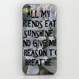 Plants for Friends iPhone Skin