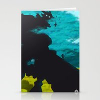 shadow of the colossus Stationery Cards featuring Shadow Of The Colossus Minimalist Cloudy Poster by LoweakGraph
