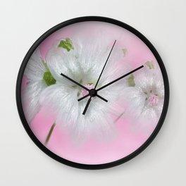 Malva Moschata 'Alba' Wall Clock