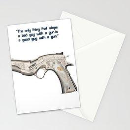 American Problems Pop-Art Gun Series #7 by Jéanpaul Ferro - Good Guy with Gun Stationery Cards