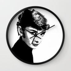 Audrey Hepburn Black and white Wall Clock