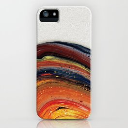 Vibrant Acrylic Pour Painting iPhone Case