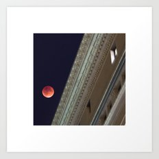 Blood Moon Over Education Building Art Print