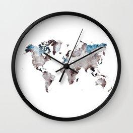 world map 73 Wall Clock