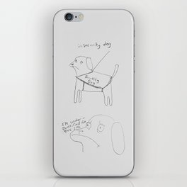 Insecurity dog - Iphone case iPhone Skin