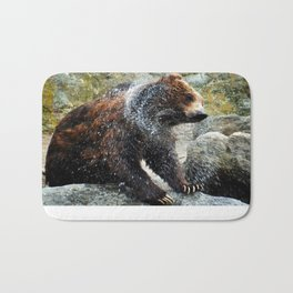 Bear out of the Water Bath Mat