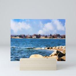 New England Shoreline - Painterly Mini Art Print