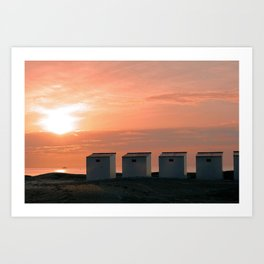 Pink Sunset over the North Sea Art Print