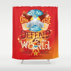 Defend the world Shower Curtain