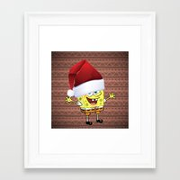 spongebob Framed Art Prints featuring Spongebob Celebration by Neo Store