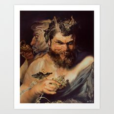 Two Satyrs  Art Print