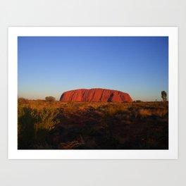Uluru in the morning Art Print