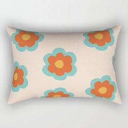 70s Retro Flowers  Rectangular Pillow