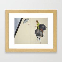 Au Revoir, Parapluie Framed Art Print