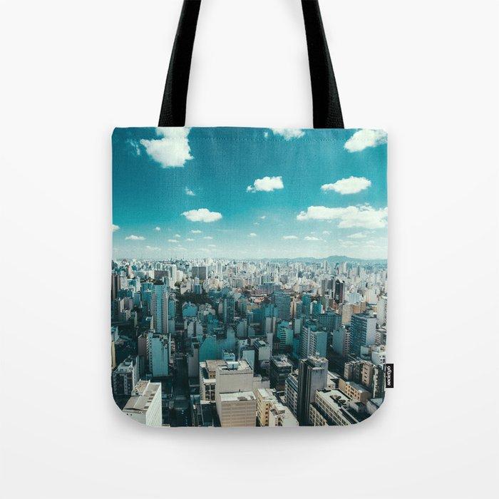 city blue 4 Tote Bag