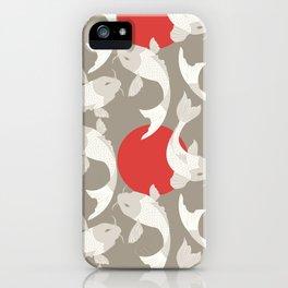Koi fish pattern 002 iPhone Case