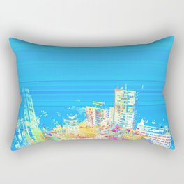 Colorful building city eagle view over blue sky 001 Rectangular Pillow