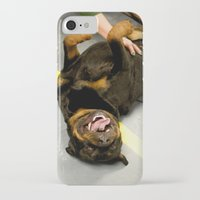 rottweiler iPhone & iPod Cases featuring Happy Rottweiler by Ann Yoo