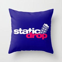Static drop v2 HQvector Throw Pillow