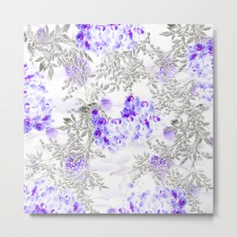 ORCHIDS PURPLE VINES AND CHERRY BLOSSOMS Metal Print
