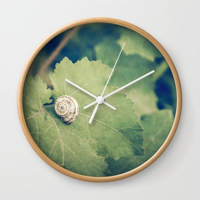 Shell Tan Wall Clock