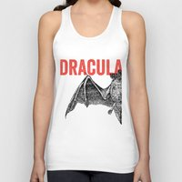 dracula Tank Tops featuring Dracula by Bubblegum Prints