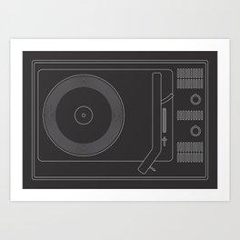 Braun Vintage Turntable Art Print