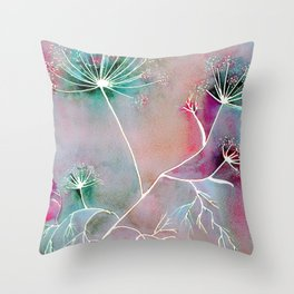 Funky Fennel Fireworks Throw Pillow
