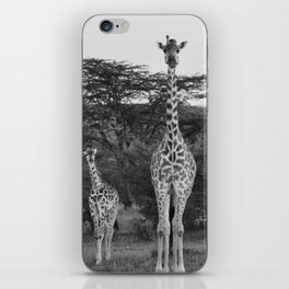 Giraffes Black And White Wildlife Photography #society6 #home #decor #tech iPhone Skin