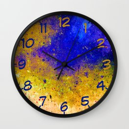 Ink Intrusion Wall Clock