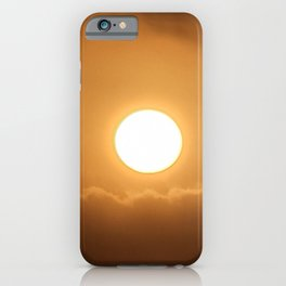 Sunrise on the jeju  island sea in Korea. iPhone Case