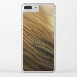 Gold Mane Clear iPhone Case