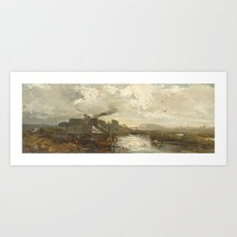 HILGERS, CARL Düsseldorf 1818 - 1890 Customhouse near Amsterdam Art Print