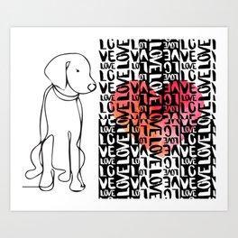 WEIM LOVE! Art Print