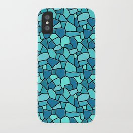 Stained Glass Blue iPhone Case