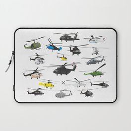 Multiple Helicopters Laptop Sleeve
