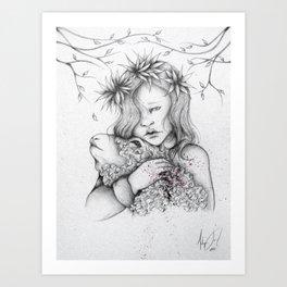 Baby Lamb Art Print