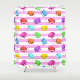 Colorful macaron Shower Curtain