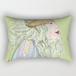 Fresh hair cut Rectangular Pillow