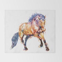 Running Horse Throw Blanket