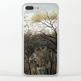 Henri Rousseau Rendezvous in the Forest Clear iPhone Case